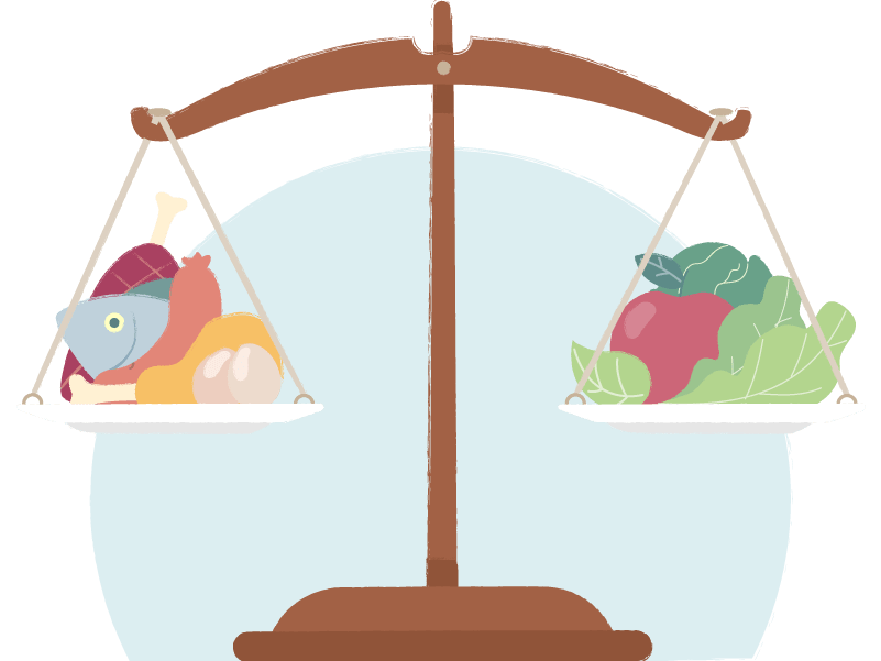 Image representing a balanced diet